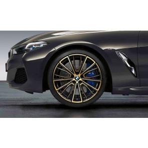 BMW Kompletträder M Performance Vielspeiche 732 bicolor (night gold / glanzgefräst) 20 Zoll 8er G14 G15 G16 RDCi (Mischbereifung)