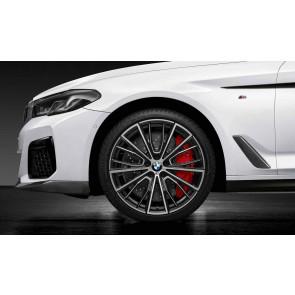 BMW Kompletträder M Performance Vielspeiche 732 bicolor (schwarz / glanzgedreht) 20 Zoll 5er G30 G31 RDCi (Mischbereifung)
