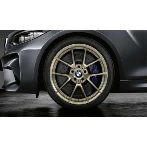 BMW Kompletträder M Performance Y-Speiche 763 bicolor (frozen gold matt / glanzgefräst) 19 / 20 Zoll M3 F80 M4 F82 F83 RDCi (Mischbereifung)