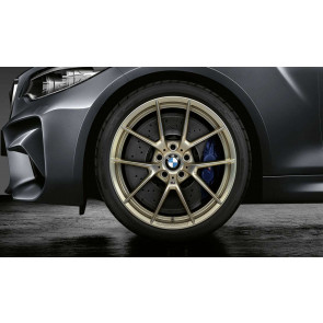 BMW Alufelge M Performance Y-Speiche 763 frozen gold matt 8J x 20 ET 26 Vorderachse 8er G14 G15 G16