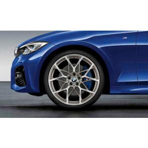 BMW Kompletträder M Performance Y-Speiche 795 bicolor (ferricgrey matt / glangefräst) 20 Zoll 3er G20 2er G42 4er G22 RDCi (Mischbereifung)