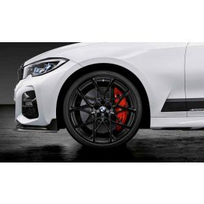 BMW Kompletträder M Performance Y-Speiche 795 jet black matt 20 Zoll 3er G20 4er G22 RDCi (Mischbereifung)