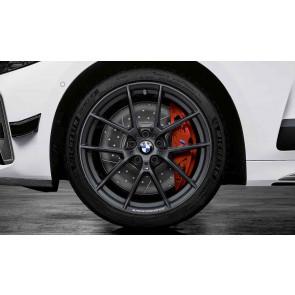 BMW Winterkompletträder M Performance Y-Speiche 898 frozen gunmetal grey 19 Zoll 3er G20 G21 RDCi (Mischbereifung)