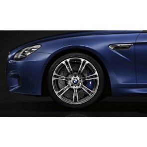 BMW Alufelge M Sternspeiche 344 silber (geschmiedet) 9,5J x 19 ET 31 Vorderachse BMW 6er F06 F12 F13 (M6)