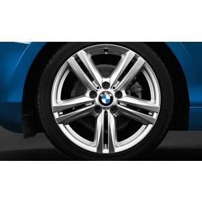 BMW Kompletträder M Sternspeiche 386 silber 18 Zoll 1er F20 F21 2er F22 F23 RDCi (Mischbereifung)