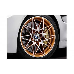 BMW Alufelge M Sternspeiche 666 acid orange metallic 10,5J x 20 ET 42 Hinterachse M4 F82 GTS