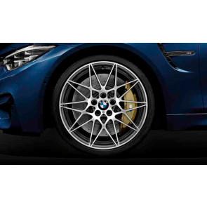 BMW Alufelge M Sternspeiche 666 bicolor (ferricgrey / glanzgedreht) 10J x 20 ET 40 Hinterachse M3 F80 M4 F82 F83
