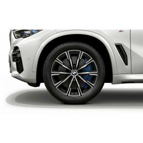 BMW Alufelge M Sternspeiche 740 bicolor (orbitgrey / glanzgedreht) 10,5J x 20 ET 40 Hinterachse X5 G05 X06 G06