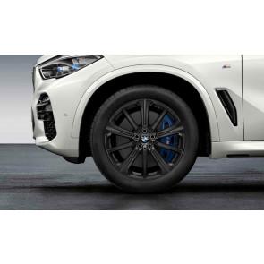 BMW Winterkompletträder M Performance Sternspeiche 748 schwarz matt 20 Zoll X5 G05 X6 G06 RDCi