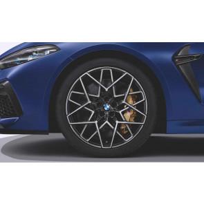 BMW Alufelge M Sternspeiche 813 bicolor (transl. shadow / glanzgedreht) 9,5J x 20 ET 28 Vorderachse M8 F91 F92