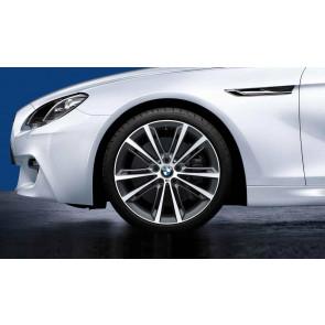 BMW Kompletträder M Performance V-Speiche 464 bicolor (ferricgrey / glanzgedreht) 20 Zoll 5er F10 F11 6er F06 F12 F13 RDC LC (Mischbereifung)