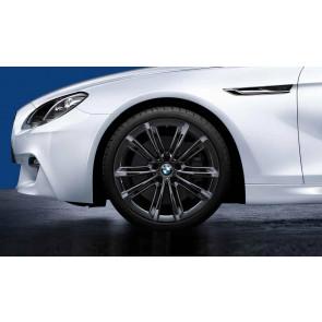 BMW Alufelge M V-Speiche 464 liquid black 8,5J x 20 ET 33 Vorderachse 5er F10 F11 6er F06 F12 F13