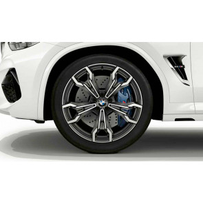 BMW Alufelge M V-Speiche 765 bicolor (orbitgrey / glanzgedreht) 9,5J x 21 ET 31 Vorderachse X3M F97 X4M F98