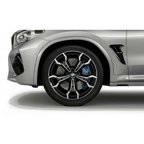BMW Alufelge M V-Speiche 765 bicolor (schwarz / glanzgedreht) 9,5J x 21 ET 31 Vorderachse X3M F97 X4M F98