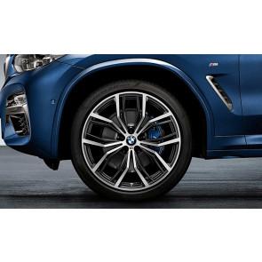 BMW Alufelge M Y-Speiche 701 bicolor (schwarz matt / glanzgedreht) 9,5J x 21 ET 43 Hinterachse X3 G01 X4 G02