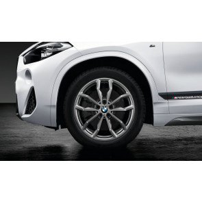 BMW Winterkompletträder M Y-Speiche 711 ferricgrey 18 Zoll X2 F39 RDCi