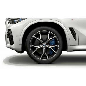 BMW Alufelge M Y-Speiche 741 bicolor (orbitgrey / glanzgedreht) 10,5J x 21 ET 43 Hinterachse X5 G05 X6 G06