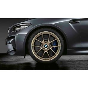 BMW Kompletträder M Y-Speiche 763 bicolor (frozen gold matt / glanzgedreht) 19 Zoll M2 F87 RDCi