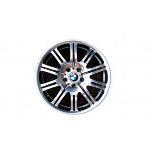 BMW Alufelge M Doppelspeiche 67 9,5J x 19 ET 27 Poliert Hinterachse BMW 3er E46