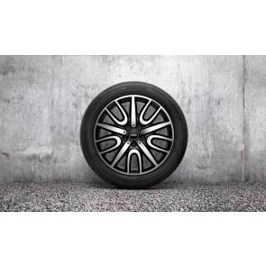 MINI Winterkompletträder JCW Black Thrill Spoke 529 bicolor (schwarz matt / glanzgedreht) 18 Zoll F60 RDCi