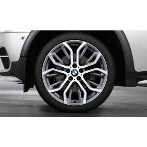 BMW Kompletträder Performance Y-Speiche 375 bicolor (ferricgrey / glanzgedreht) 21 Zoll X5 F15 X6 F16 RDCi