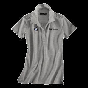 BMW Poloshirt Logo, Damen, grau-melange