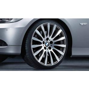 BMW Kompletträder Radialspeiche 190 bicolor (schwarz / glanzgedreht) 19 Zoll 3er E90 E91 E92 E93