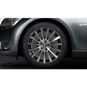BMW Alufelge Radialspeiche 190 stahlgrau poliert 8J x 19 ET 37 Vorderachse 3er E90 E91 E92 E93