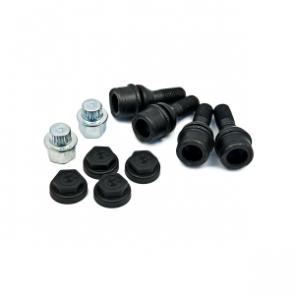BMW Hochwertiger robuster Satz Radschraubensicherung mit gefräster Kodierung und Adapter X5 E53 bis 12/05