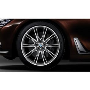 BMW Winterkompletträder V-Speiche 649i bicolor (ferricgrey / glanzgedreht) 20 Zoll 6er G32 7er G11 G12 RDCi (Mischbereifung)