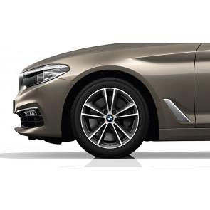 BMW Winterkompletträder V-Speiche 631 bicolor (ferricgrey / glanzgedreht) 17 Zoll 5er G30 G31 RDCi