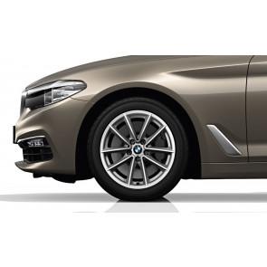 BMW Alufelge V-Speiche 618 silber 7,5J x 17 ET 27 Vorderachse / Hinterachse 5er G30 G31 6er G32 7er G11 G12