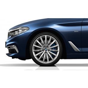 BMW Winterkompletträder Vielspeiche 633 reflexsilber 19 Zoll 5er G30 G31 RDCi (Mischbereifung)
