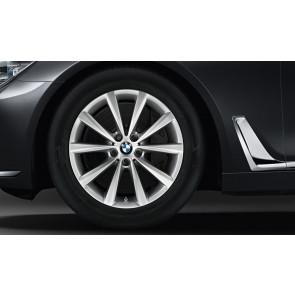 BMW Winterkompletträder V-Speiche 642 reflexsilber 18 Zoll 6er G32 7er G11 G12 RDCi