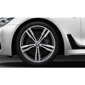 BMW Winterkompletträder M Doppelspeiche 648 bicolor (orbitgrey / glanzgedreht) 20 Zoll 6er G32 7er G11 G12 RDCi (Mischbereifung)
