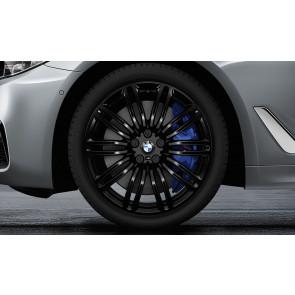 BMW Winterkompletträder M Doppelspeiche 664 schwarz 19 Zoll 5er G30 G31 RDCi (Mischbereifung)