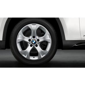 BMW Kompletträder Sternspeiche 317 silber 17 Zoll X1 E84 RDC LC