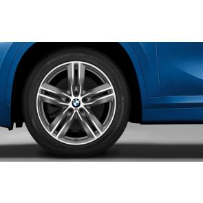 BMW Alufelge M Doppelspeiche 570 bicolor (ferricgrey / glanzgedreht) 7,5 J x 18 ET 52 Vorderachse / Hinterachse X1 F48 X2 F39
