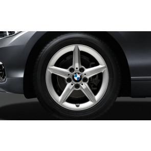 BMW Alufelge Sternspeiche 654 silber 7J x 16 ET 40 Vorderachse / Hinterachse 1er F20 F21 2er F22 F23