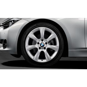BMW Winterkompletträder Sternspeiche 396 reflexsilber 18 Zoll 3er F30 F31 4er F32 F33 F36 RDCi