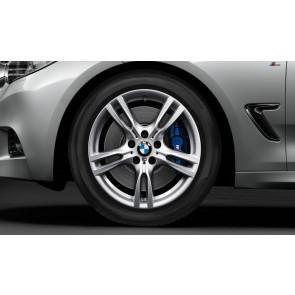 BMW Alufelge M Sternspeiche 400 silber 9J x 18 ET 42 Hinterachse 3er F34