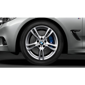BMW Alufelge M Sternspeiche 400 silber 8,5J x 18 ET 47 Hinterachse 3er F30 F31 4er F32 F33 F36
