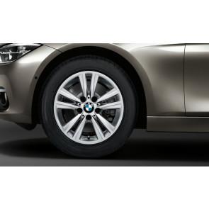 BMW Winterkompletträder V-Speiche 656 reflexsilber 16 Zoll 3er F30 F31 4er F32 F33 F36 RDCi