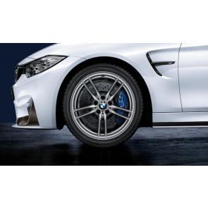 BMW Winterkompletträder M V-Speiche 641 silber 19 Zoll M3 F80 M4 F82 F83 RDCi (Mischbereifung)