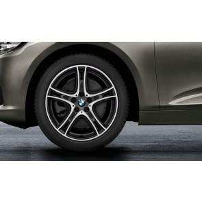 BMW Kompletträder Doppelspeiche 361 bicolor (orbitgrey / glanzgedreht) 18 Zoll 2er F45 F46