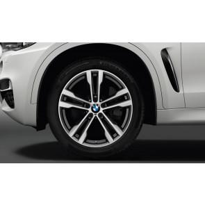 BMW Winterkompletträder M Doppelspeiche 468 bicolor (orbitgrey / glanzgedreht) 20 Zoll X5 F15 X6 F16 RDCi (Mischbereifung)