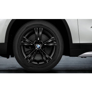 BMW Winterkompletträder Doppelspeiche 385 schwarz glänzend 17 Zoll X1 F48 X2 F39 RDCi