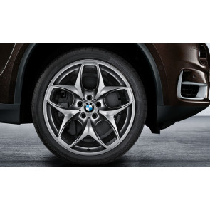 BMW Kompletträder Doppelspeiche 215 ferricgrey 21 Zoll X5 M E70 X6 E71 (inkl. M) RDC LC