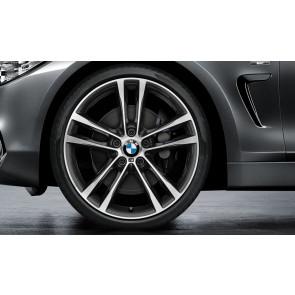 BMW Kompletträder M Doppelspeiche 598 bicolor (orbitgrey / glanzgedreht) 19 Zoll 3er F34 RDCi (Mischbereifung)