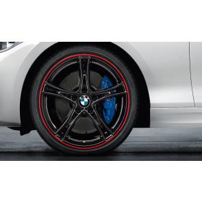 BMW Kompletträder Doppelspeiche 361 bicolor (schwarz mit rotem Felgenring) 19 Zoll 1er F20 F21 2er F22 F23 RDCi
